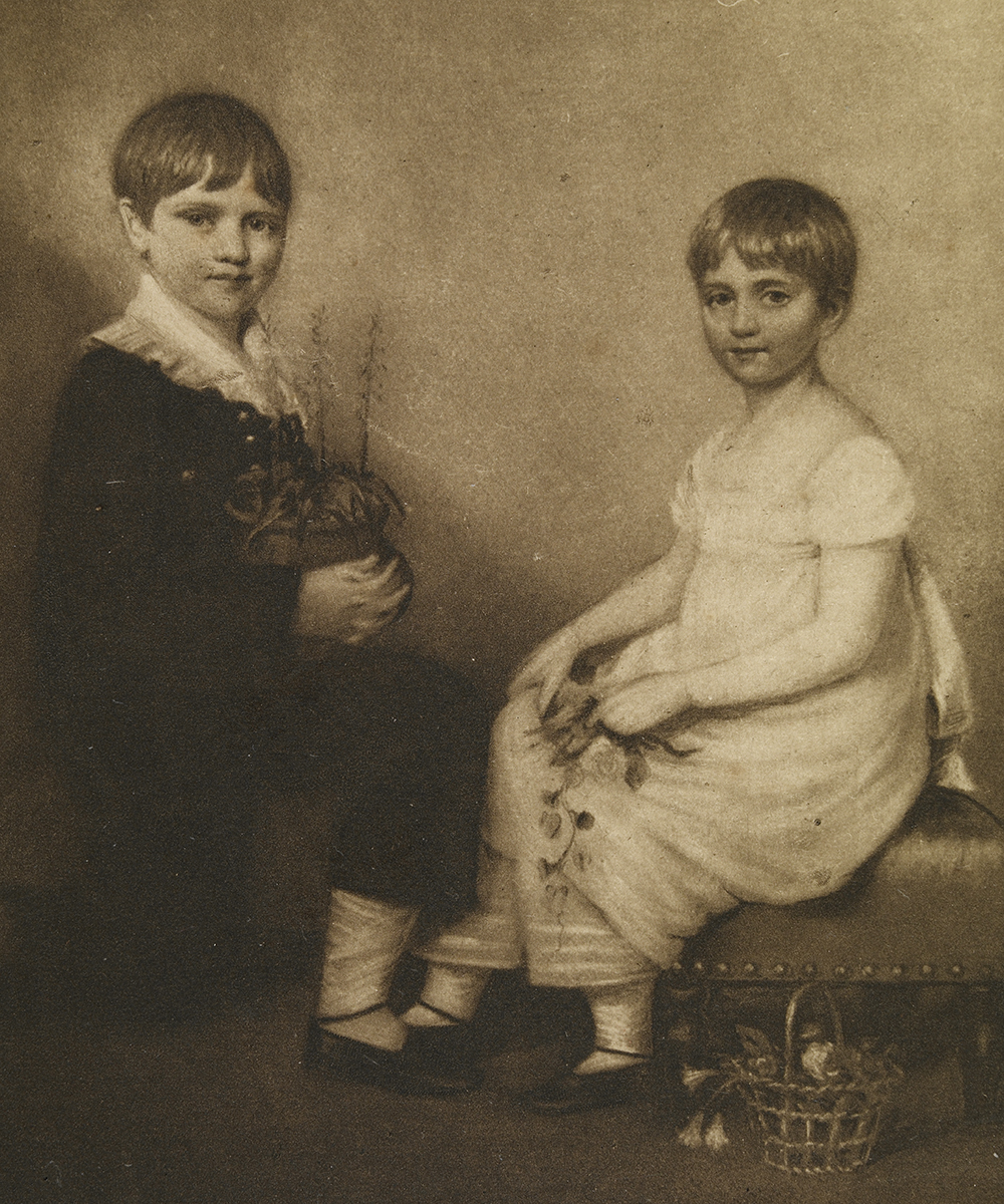 Charles Darwin (age 6) and his sister Catherine